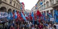 В Италии прошла общенациональная забастовка бюджетников
